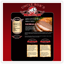 e-commerce website, Uncle Bob's Sauces, online store