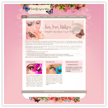 Eyelash Salon Website Design