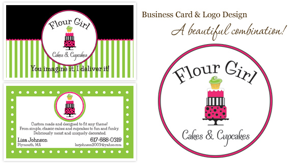 logo business card design cake designer