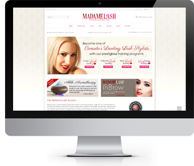 Eyelash Extensions - website design