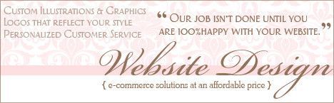 Website Design- custom graphics and illustrations