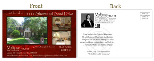 Postcard Design for Realtor