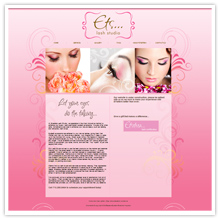 Lash studio salon website design, Houston, Texas