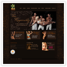 Sunless Tanning Website Design